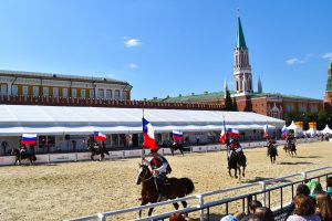 Chilean horse show on Red Square, Moscow.