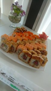 Great sushi at Kemari sushi in Perm. Large and tasty pieces. Great service by English-speaking waitress.