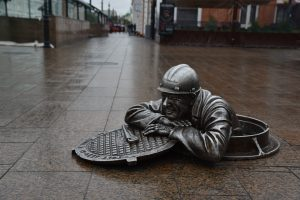 Monument to Stepan, the Plumber in Omsk.