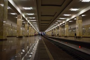Partizanska metro station in Moscow.