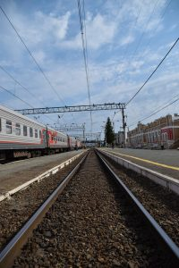 Train tracks at Ishim station.