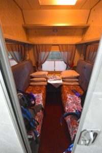 First class compartment in Russian train 008HA.