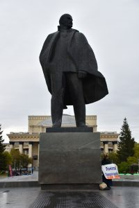Lenin on Lenina Square in Novosibirsk.