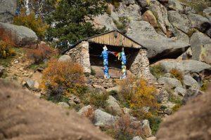 Meditation cave in Manjusri Monastery in Bogd Khan Uul in Mongolia.