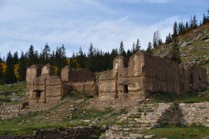 Ruins in Manjusri Monastery in Bogd Khan Uul national park in Mongolia.