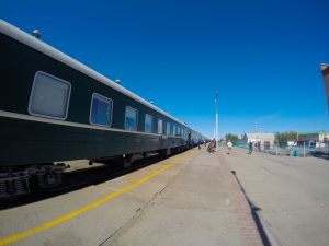 Ten minute stop at Choir station in Mongolia.