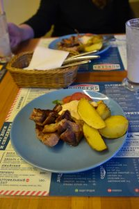 Third dish of a business lunch, at Jack's Burgers in Novosibirsk.