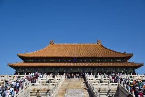 Plenty of people in Forbidden City, Beijing