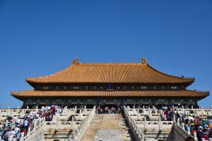 Plenty of people in Forbidden City, Beijing